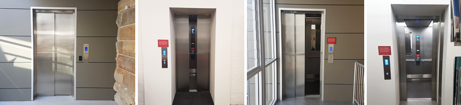 Paddington Library - View of lift at different Levels