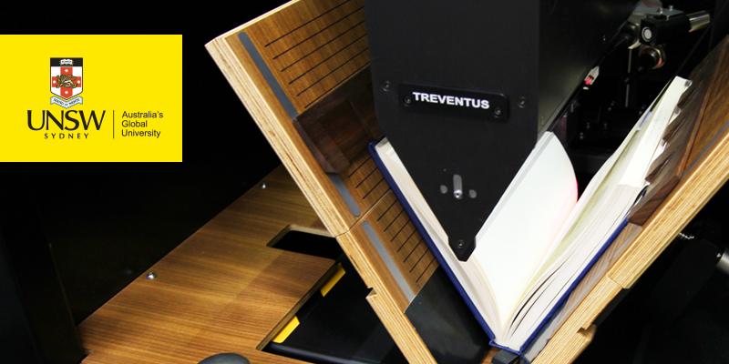 UNSW digitisation Treventus automatic book scanner