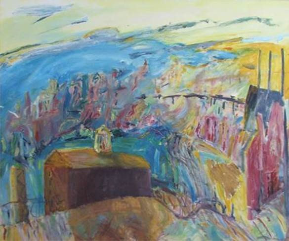 Kevin Connor Morning sky, Pyrmont   1984 UNSW P 1985/0320