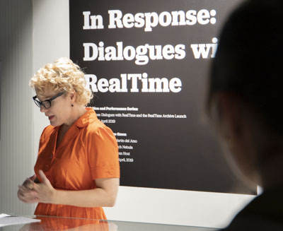 In Response: Dialogues with RealTime - Dr Erin Brannigan speaking at the launch of the RealTime Archive