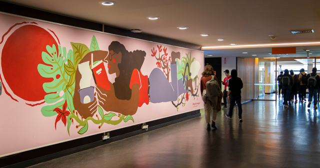 Main Library student mural commission