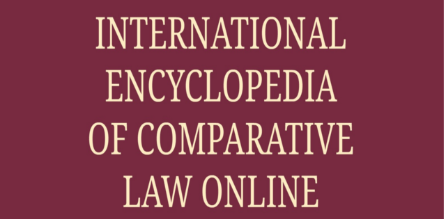 International encyclopedia of comparative law online