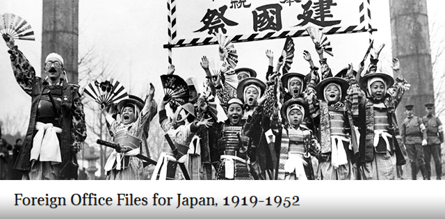 New resource - Foreign Office Files for Japan