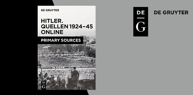 Hitler. Quellen, 1924-45 Online