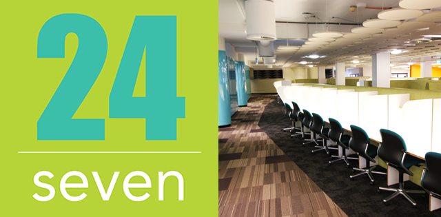 Main Library - New Level 2 space open 24 seven