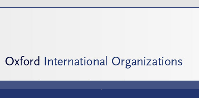 New resource - Oxford International Organizations
